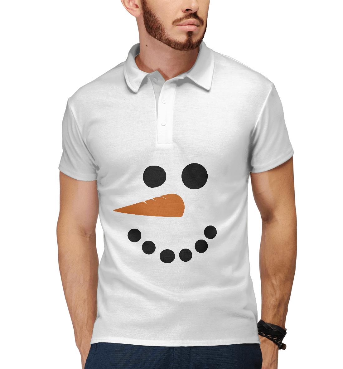 Купить Снеговик минимализм, Printbar, Поло, NOV-669478-pol-2