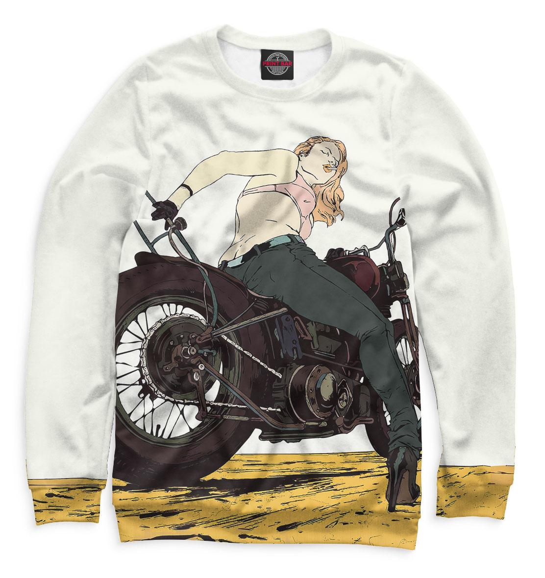 Купить Девушка на мотоцикле, Printbar, Свитшоты, MTR-939852-swi-1