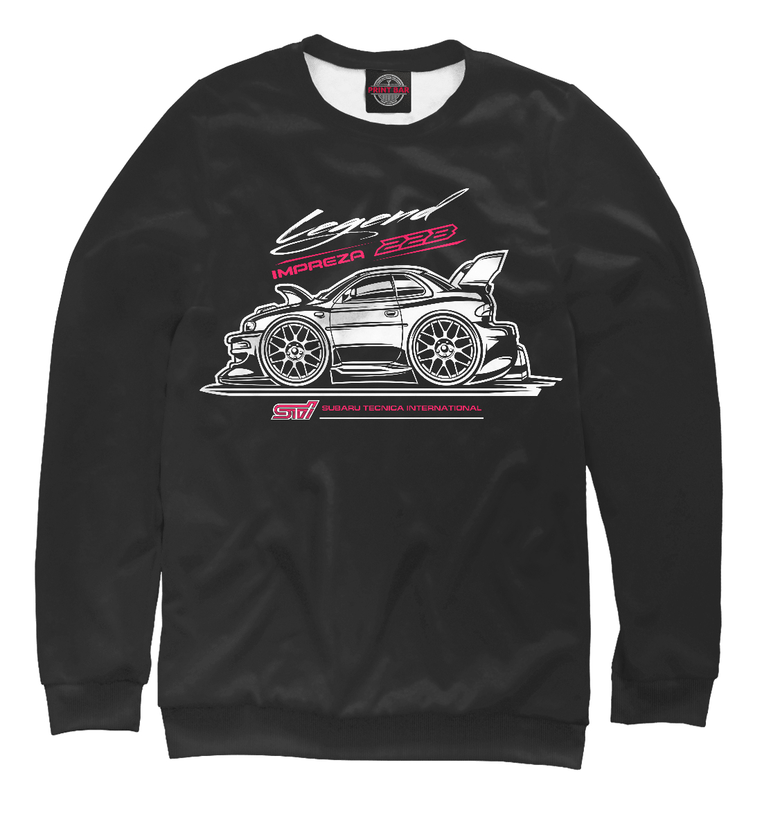 Купить Subaru 22b 2, Printbar, Свитшоты, SBR-775690-swi-2