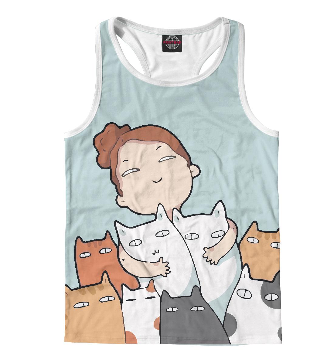 Купить Девочка с котейками, Printbar, Майки борцовки, CAT-272285-mayb-2