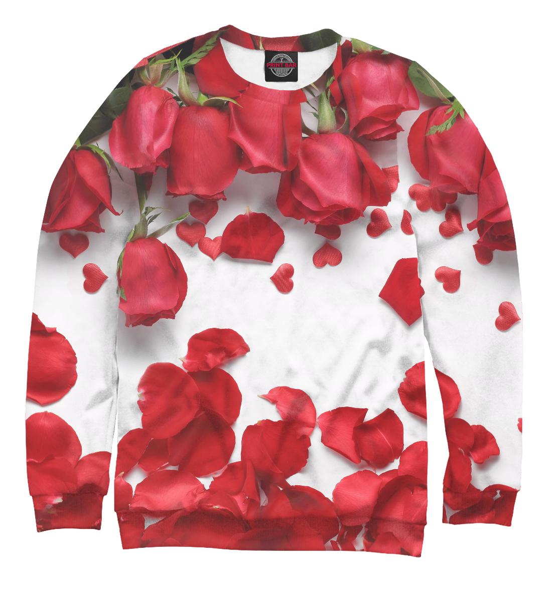 Купить Лепестки красных роз, Printbar, Свитшоты, CVE-463620-swi-1