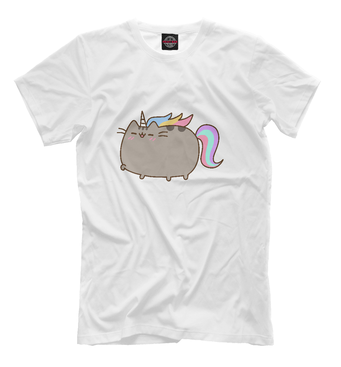 Купить Pusheen Happy Unicorn, Printbar, Футболки, CAT-622340-fut-2