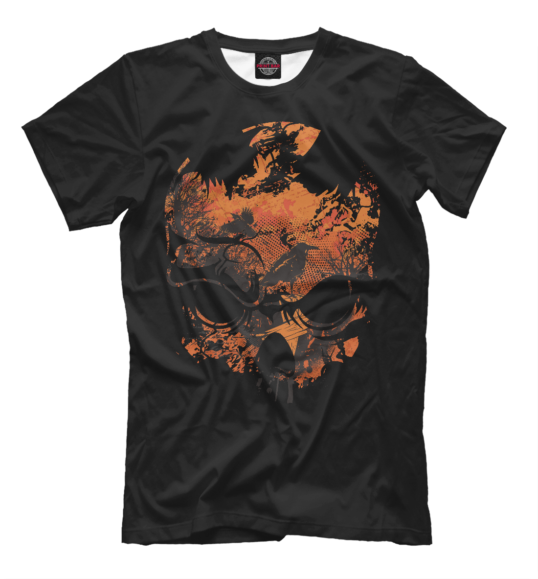 Купить Skull and Crow, Printbar, Футболки, SKU-409901-fut-2