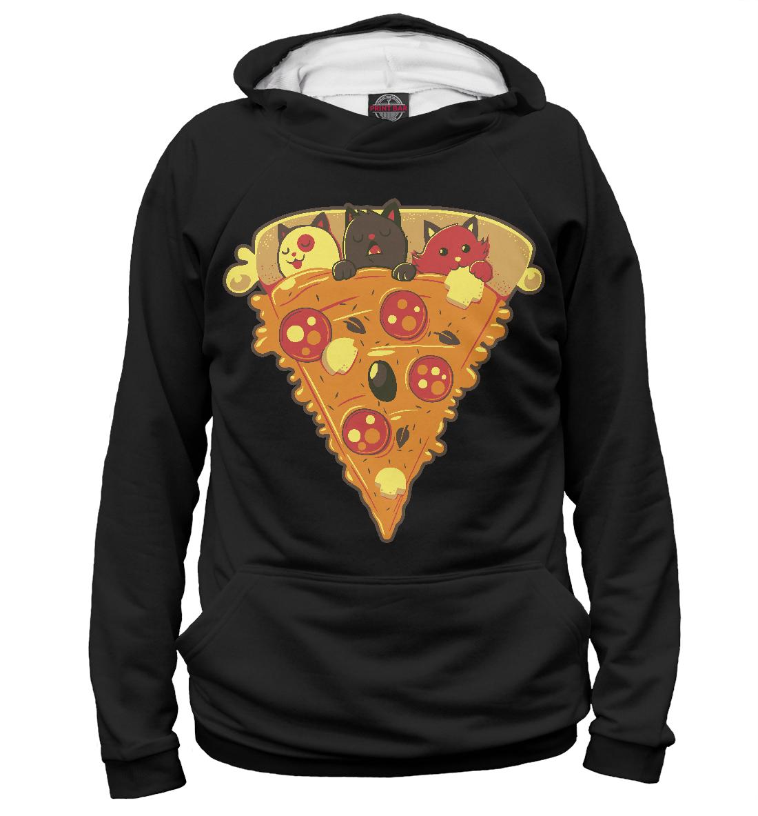 Купить Котята в пицце, Printbar, Худи, CAT-726327-hud-1