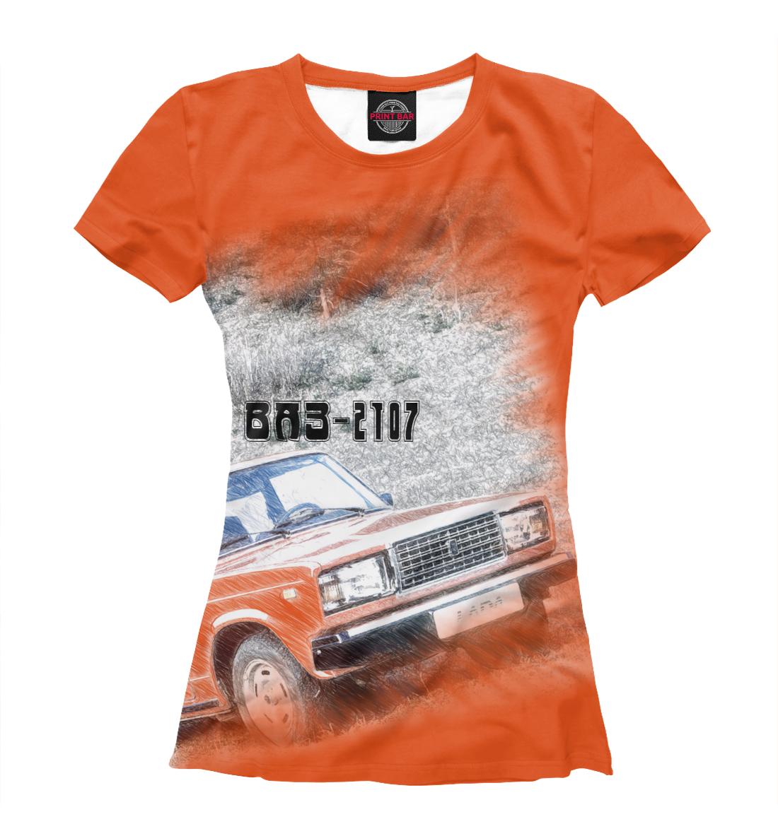 Купить ВАЗ-2107, Printbar, Футболки, LAD-582353-fut-1