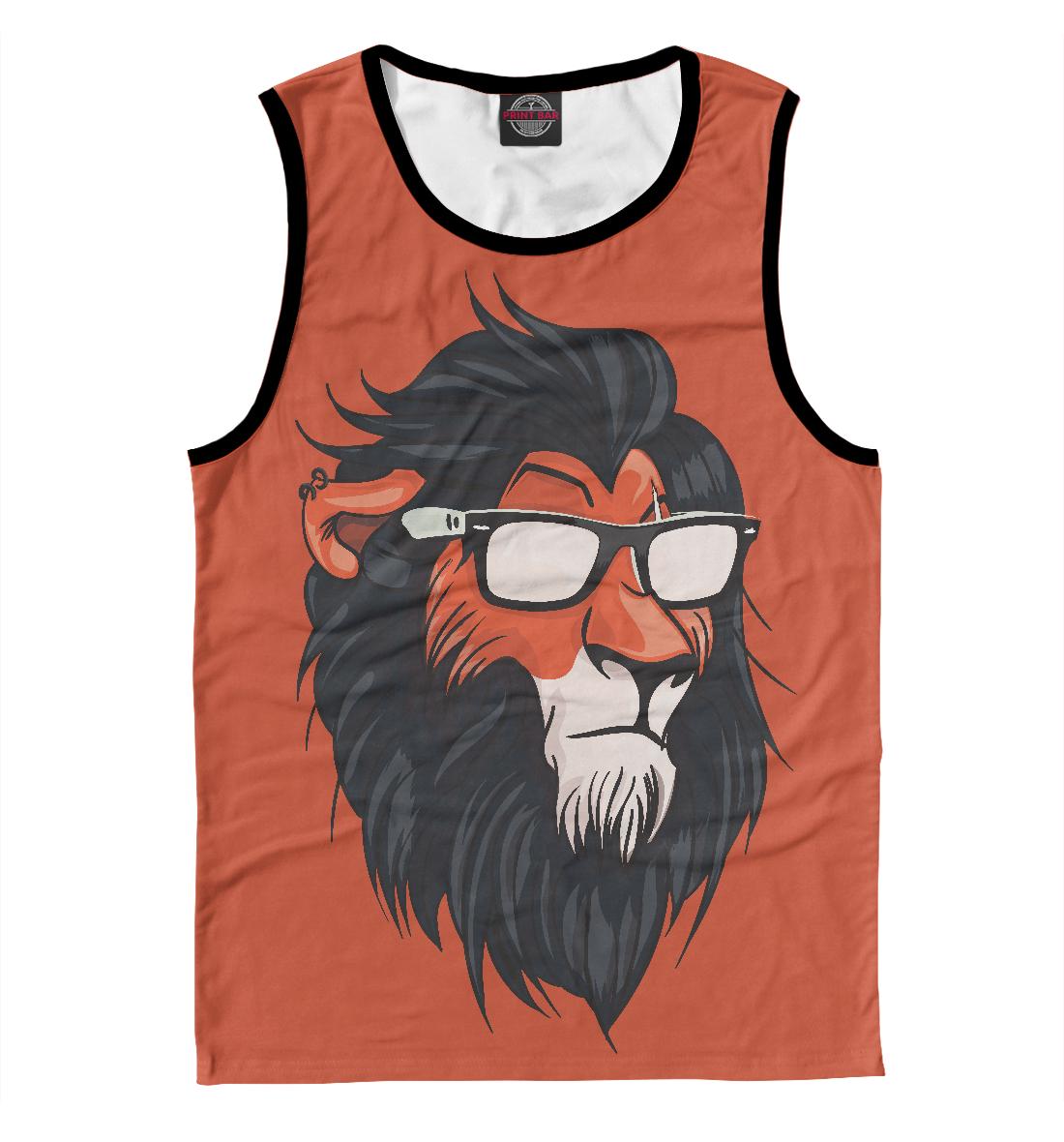 Купить Hipster Lion, Printbar, Майки, HIP-456149-may-2