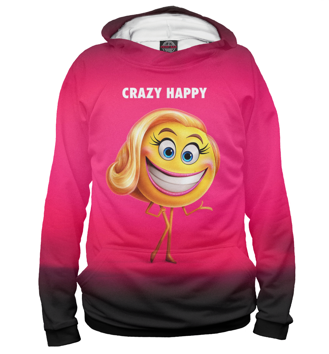 Купить Crazy Happy, Printbar, Худи, EMJ-645138-hud-1