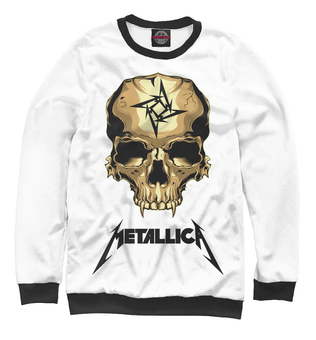 Купить Metallica Skull, Printbar, Свитшоты, MET-291305-swi-1
