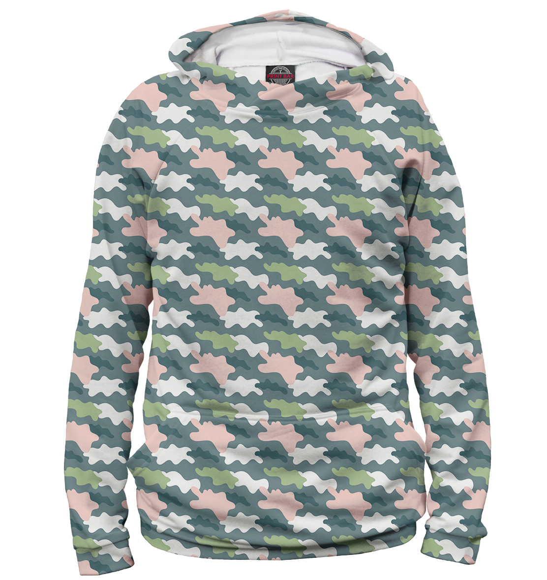 Gray-Green-Pink Camouflage