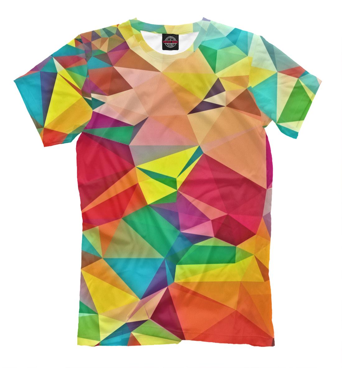 Купить Цветная абстракция, Printbar, Футболки, ABS-277635-fut-2