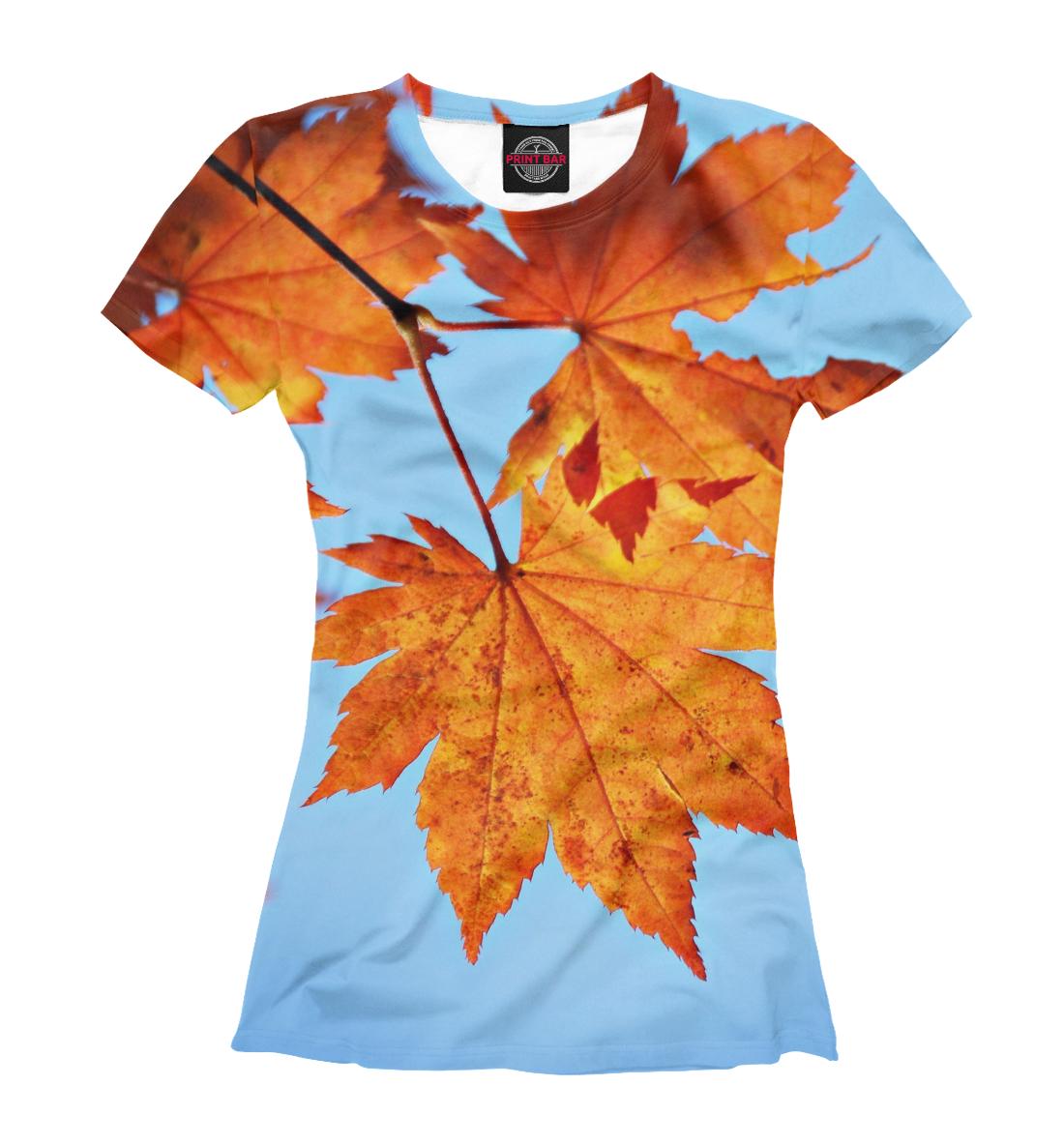 Купить Осенние кленовые листья, Printbar, Футболки, PEY-635042-fut-1