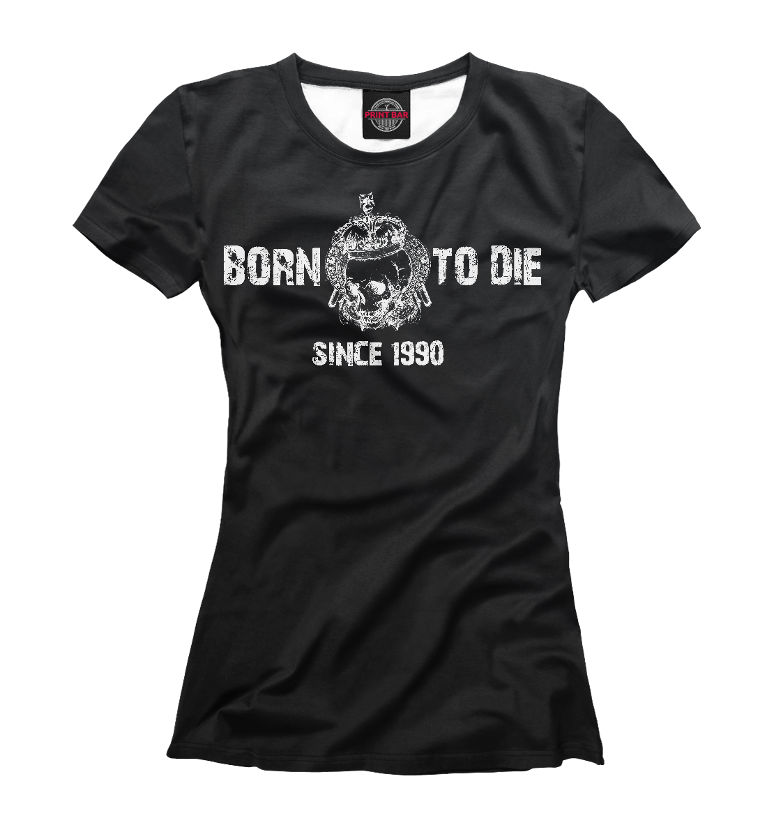 Купить Born to Die since 1990, Printbar, Футболки, DDO-414897-fut-1
