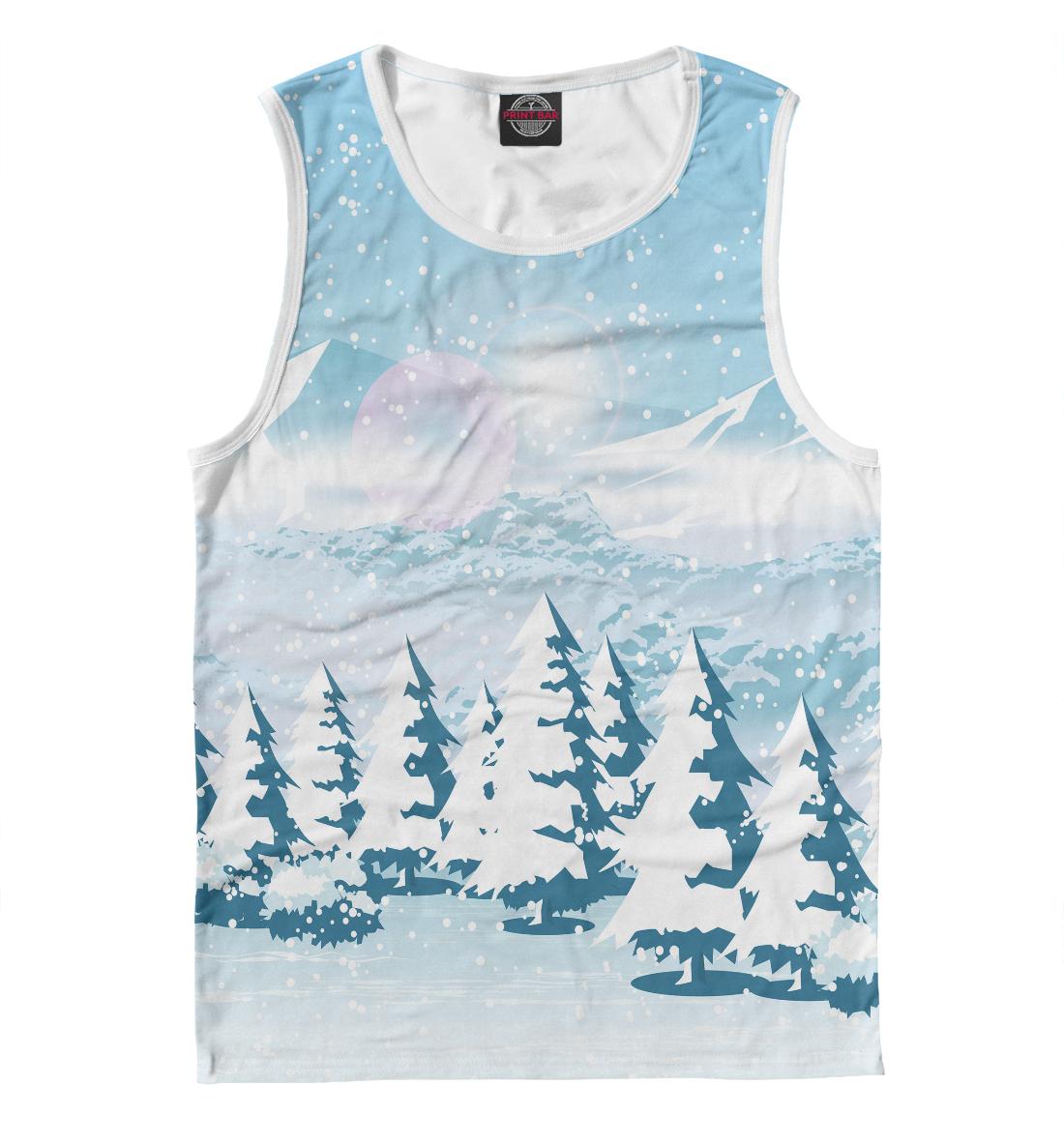 Купить Зимний пейзаж, Printbar, Майки, PEY-100044-may-2