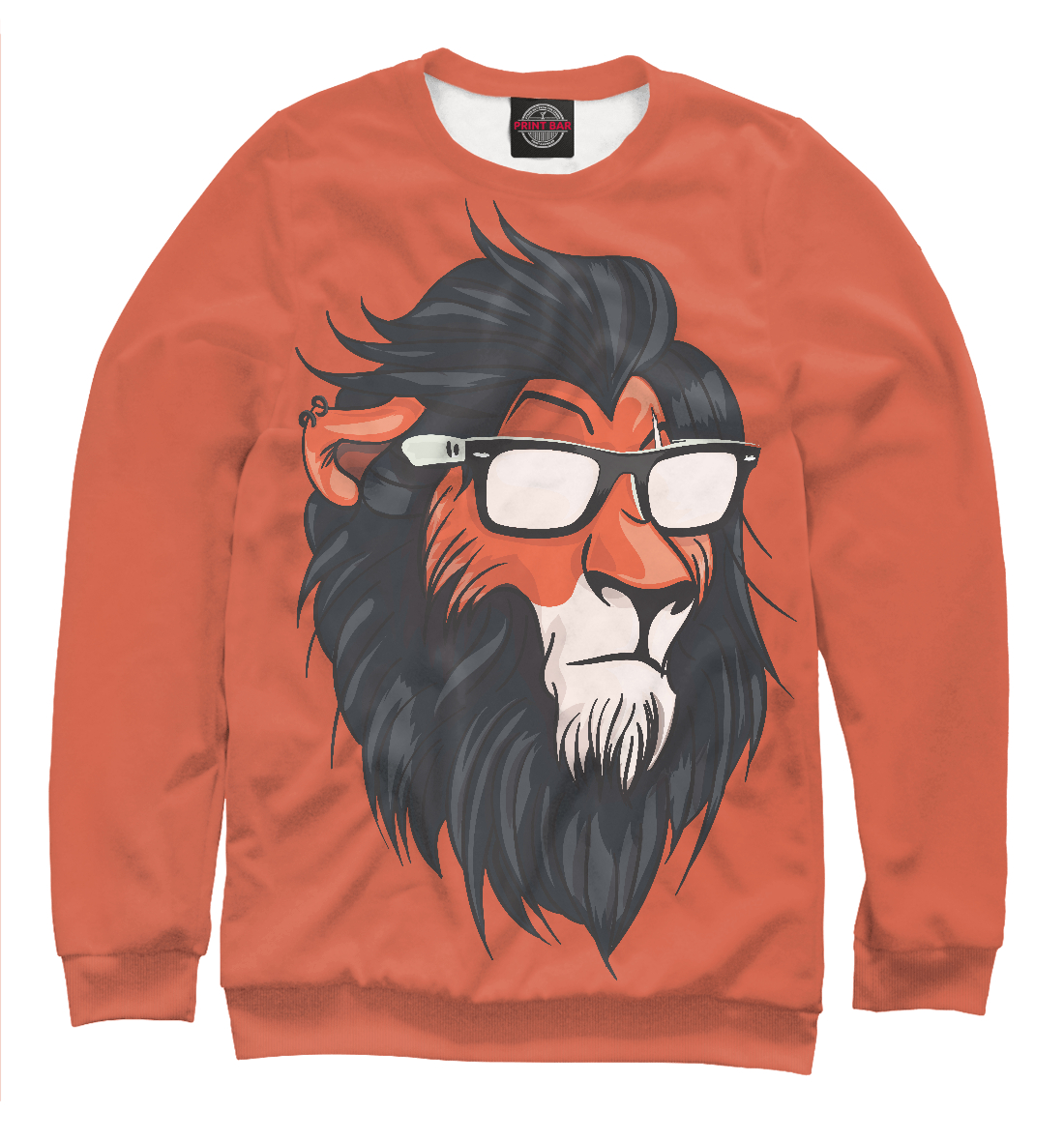 Купить Hipster Lion, Printbar, Свитшоты, HIP-456149-swi-1