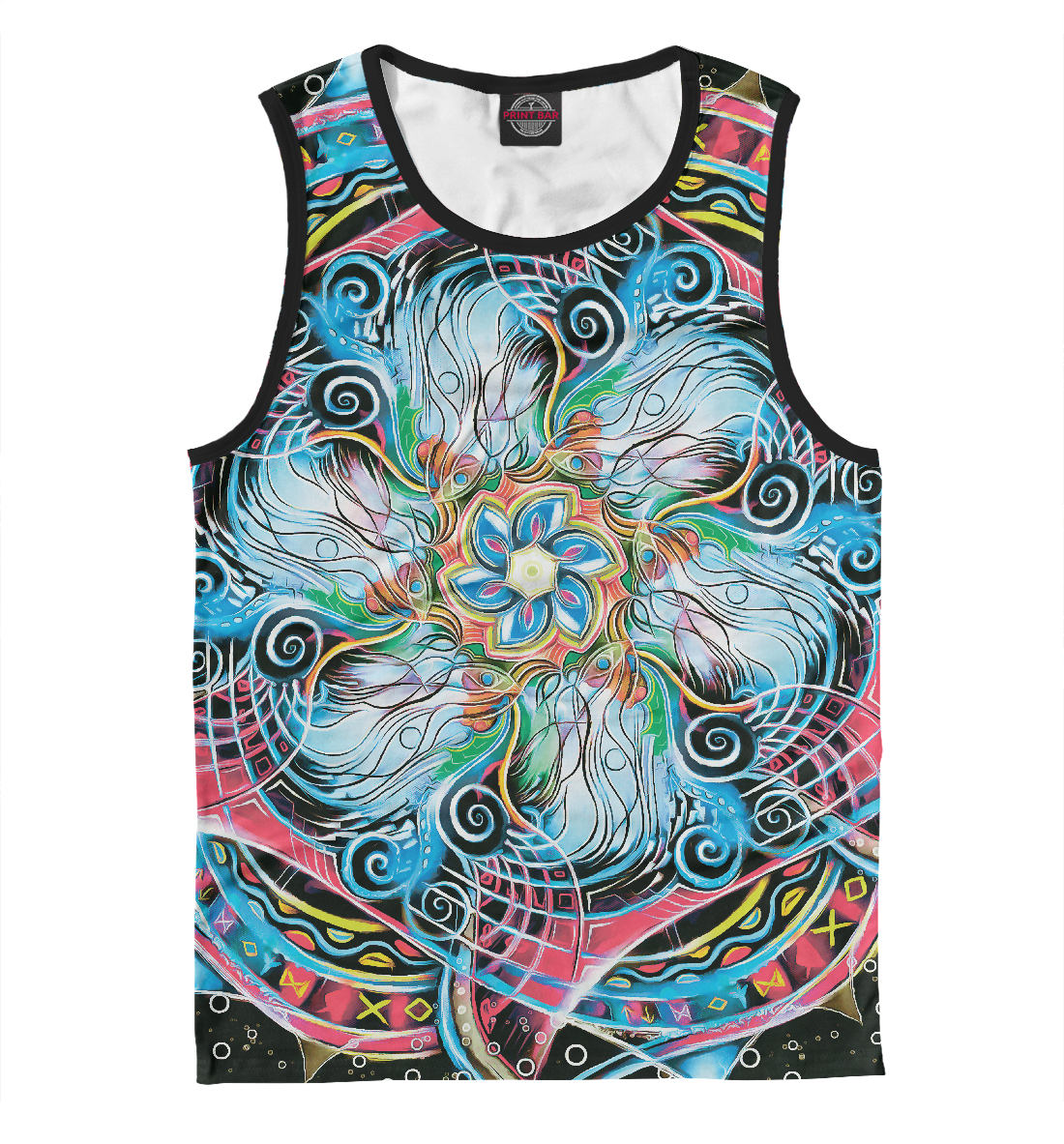 Купить Мандала Странные Цветные Руны, Printbar, Майки, APD-506067-may-2