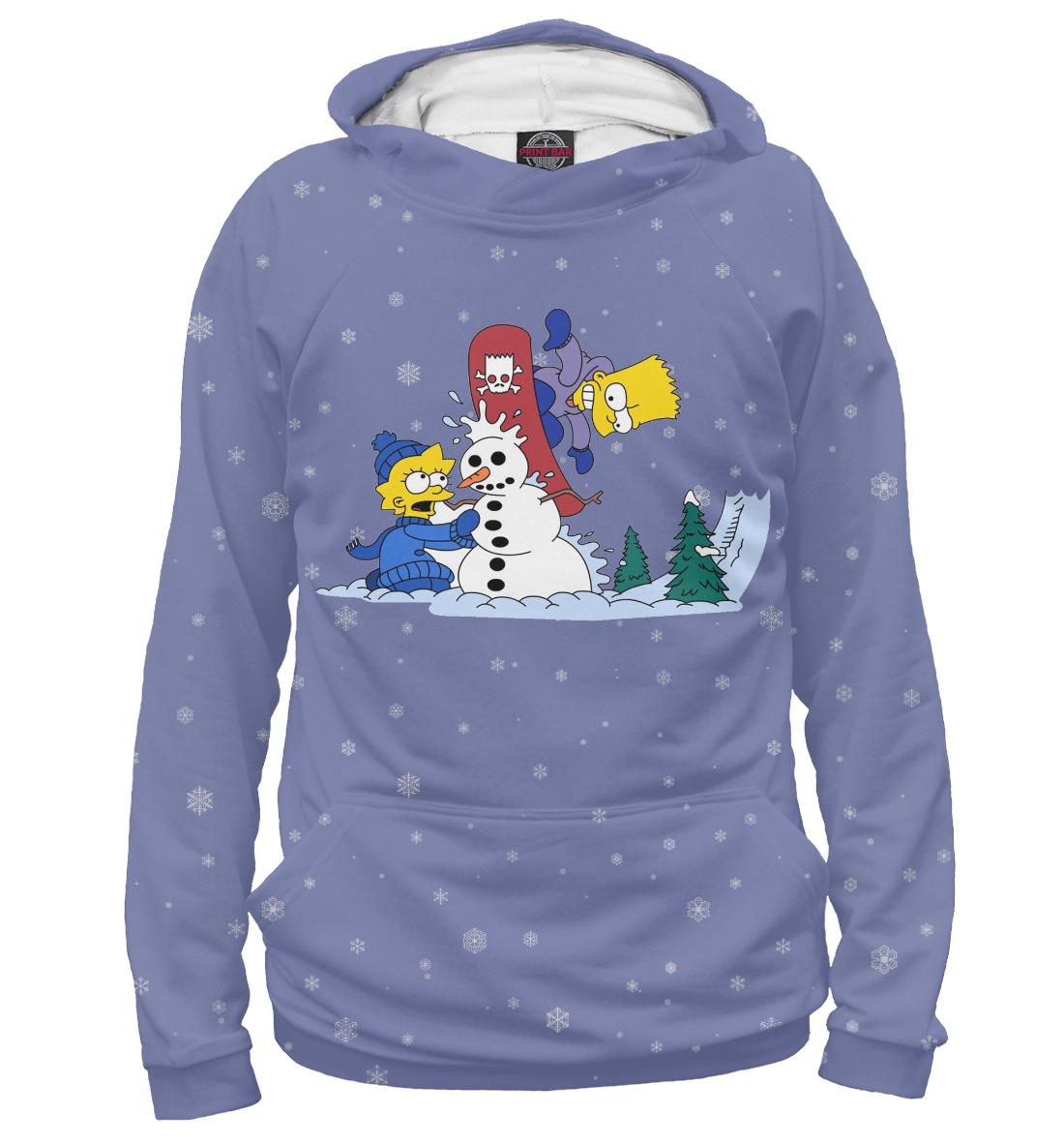 Купить Лиза и Барт Зимой, Printbar, Худи, NOV-457537-hud-1