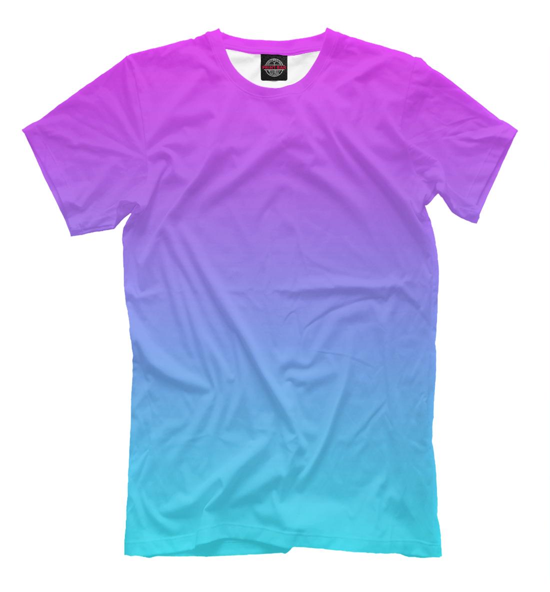 Купить Градиент: Розовый в Голубой, Printbar, Футболки, CLR-401097-fut-2