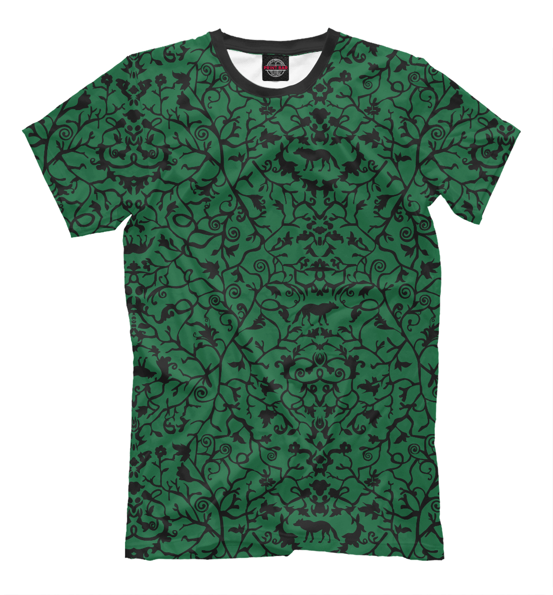 Купить Abstract Wolf Green, Printbar, Футболки, ABS-712445-fut-2