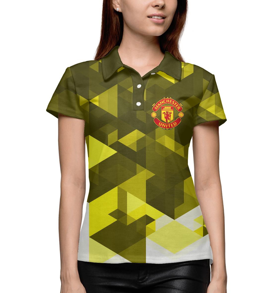 Купить Manchester United Sport Abstract, Printbar, Поло, MAN-993531-pol-1