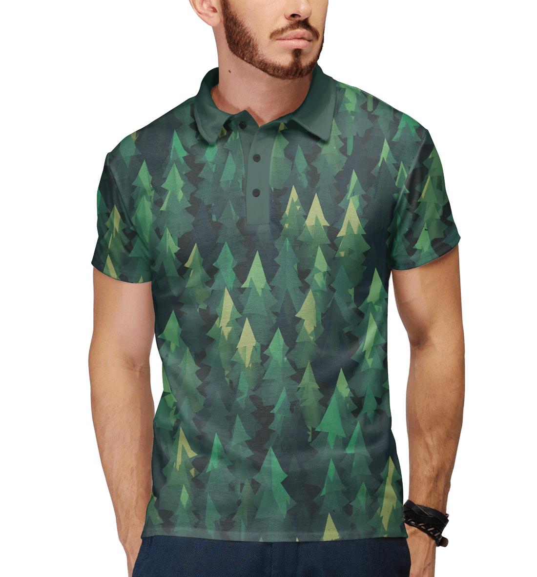 Купить Simple forest, Printbar, Поло, APD-523867-pol-2