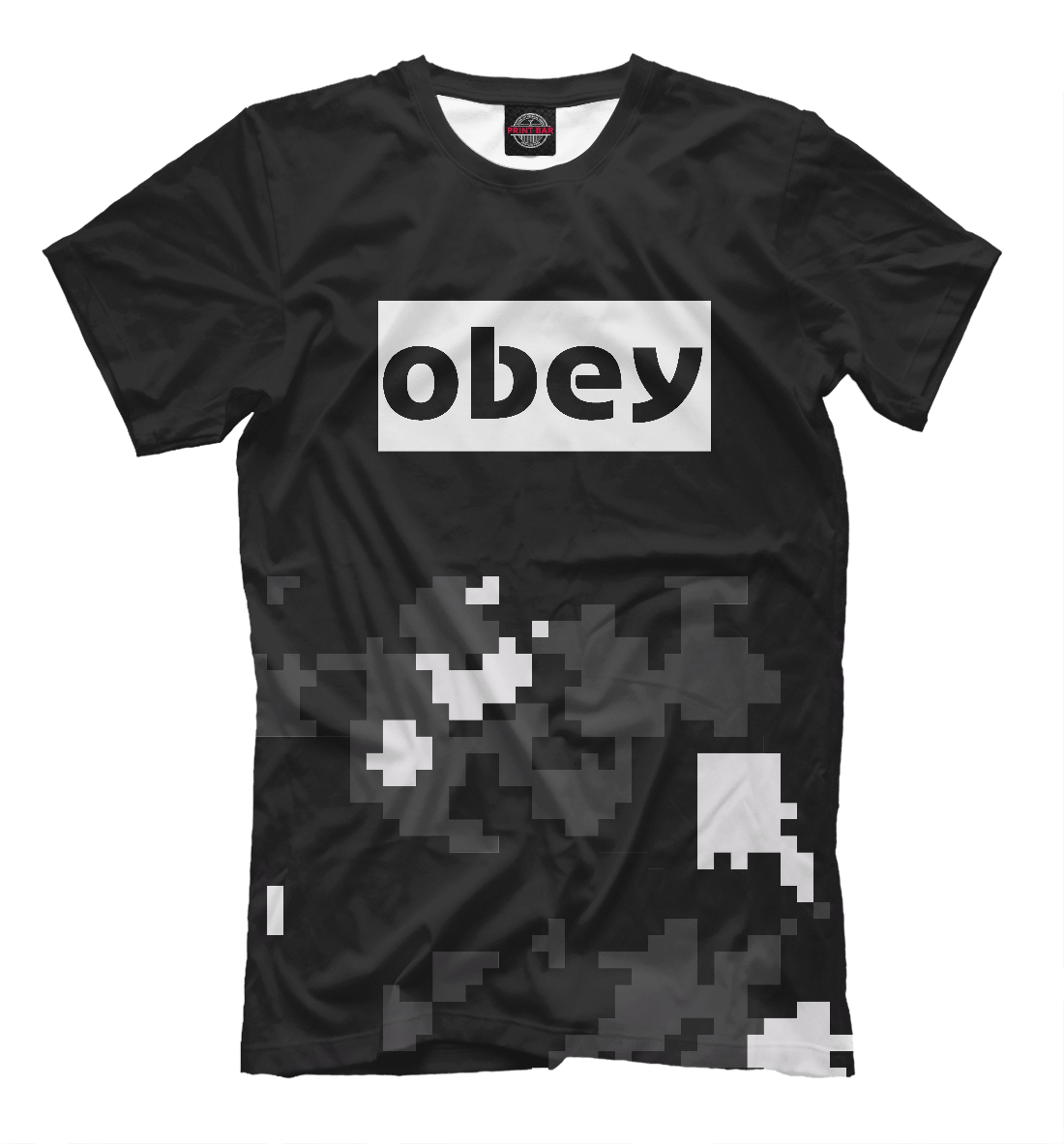 Купить OBEY BLACK MILITARY COLLECTION, Printbar, Футболки, APD-126054-fut-2