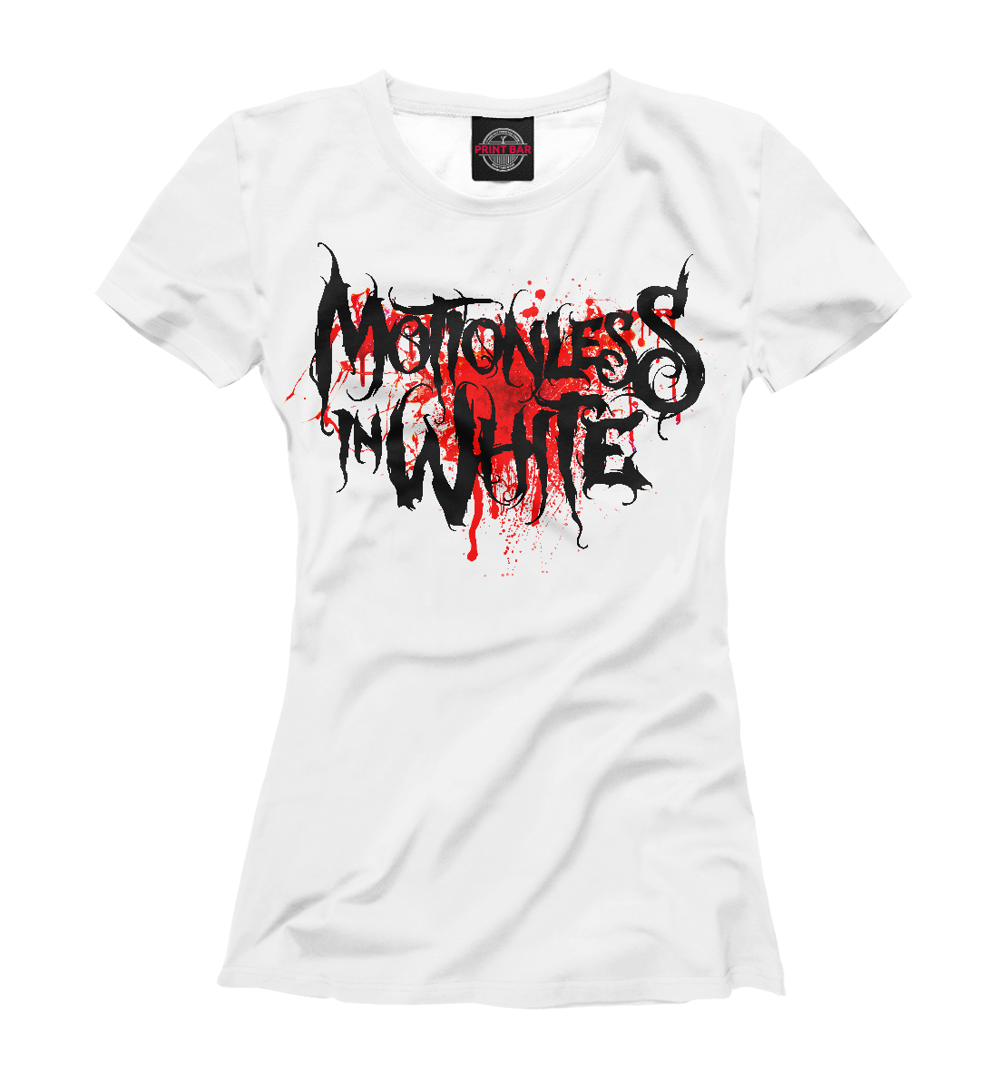 Купить Motionless In White Blood Logo, Printbar, Футболки, MZK-411447-fut-1