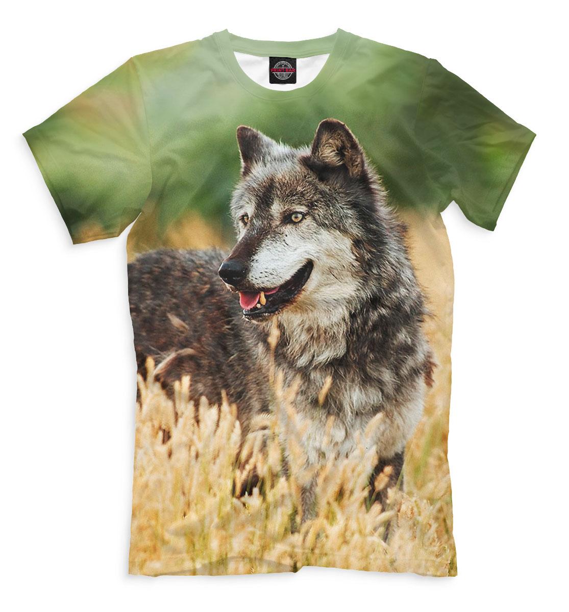 Волк, Printbar, Футболки, VLF-412415-fut-2  - купить со скидкой
