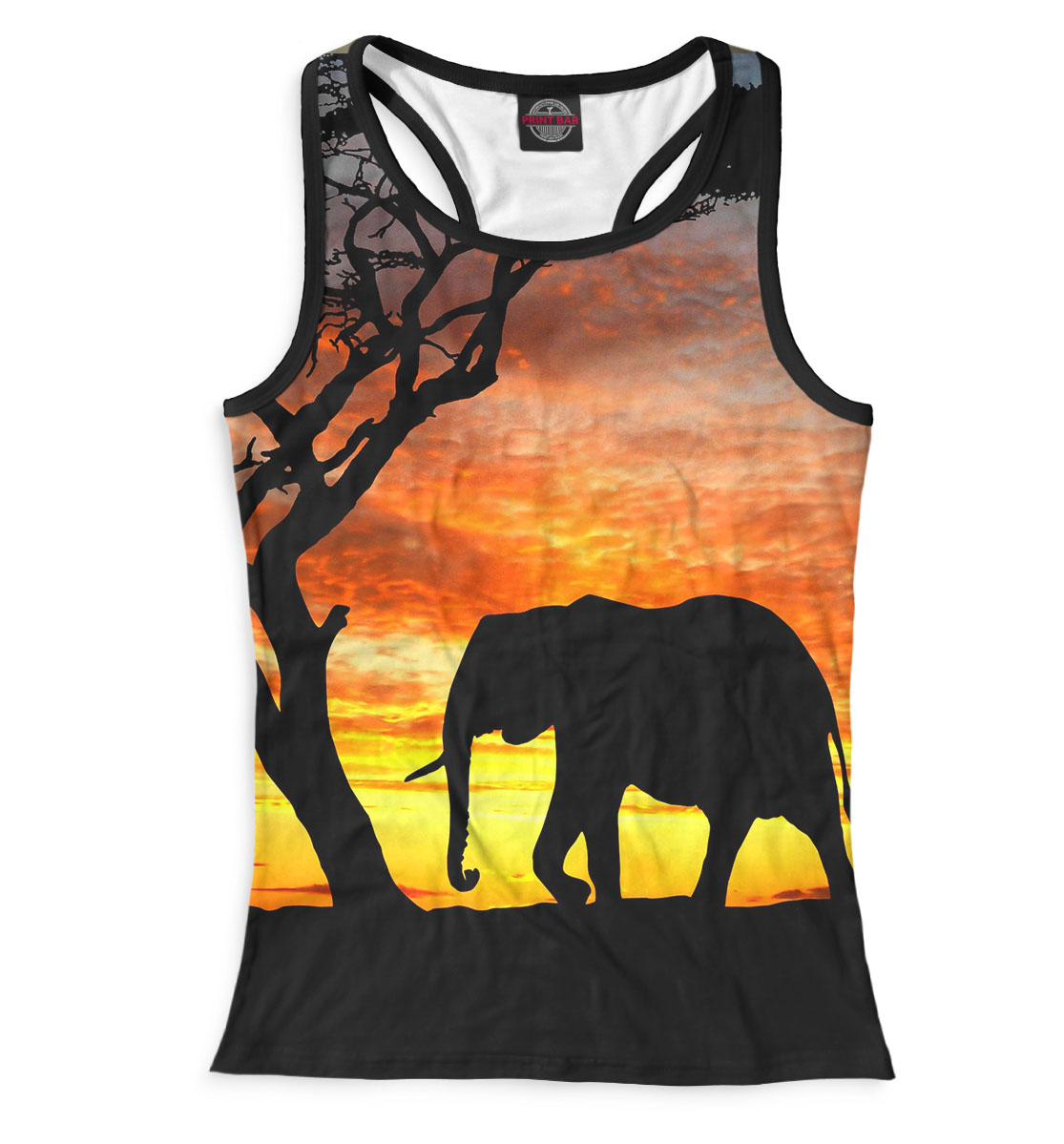 Купить Слоны, Printbar, Майки борцовки, SLO-280380-mayb-1