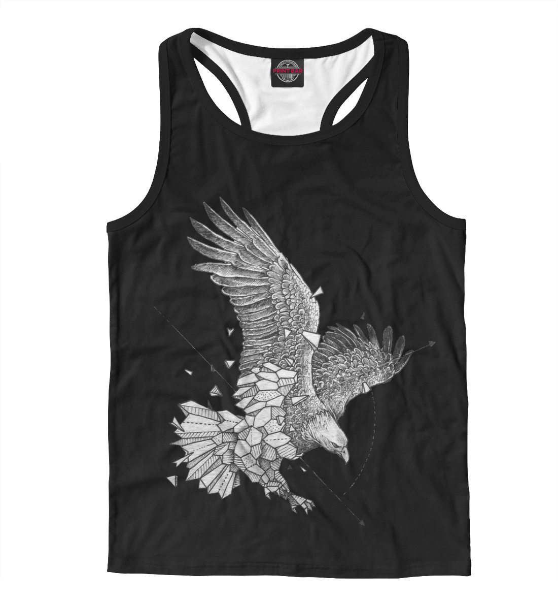 Купить Geometric dark eagle, Printbar, Майки борцовки, HIP-658767-mayb-2