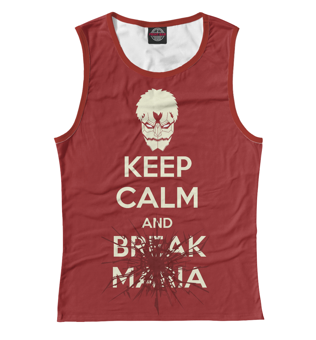 Купить Keep Calm And Break Maria, Printbar, Майки, AOT-433411-may-1
