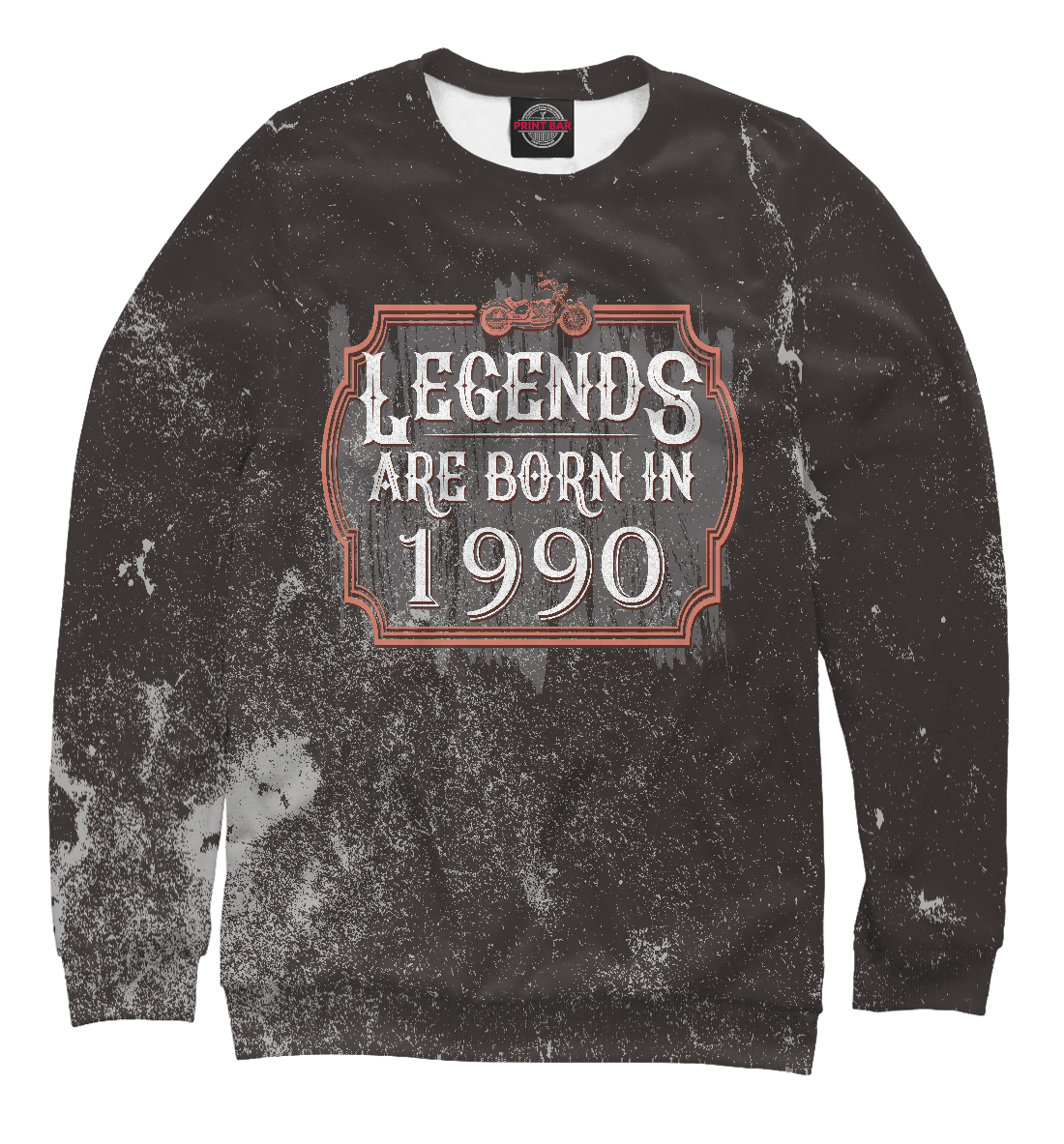 Купить Legends Are Born In 1990, Printbar, Свитшоты, DDO-735971-swi-2