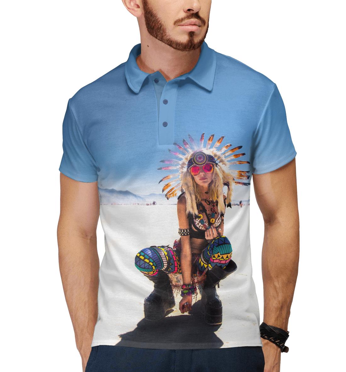 Купить Psychedelic Girl, Printbar, Поло, APD-817985-pol-2