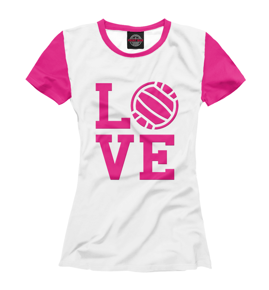 Купить I love volleyball, Printbar, Футболки, VLB-939345-fut-1