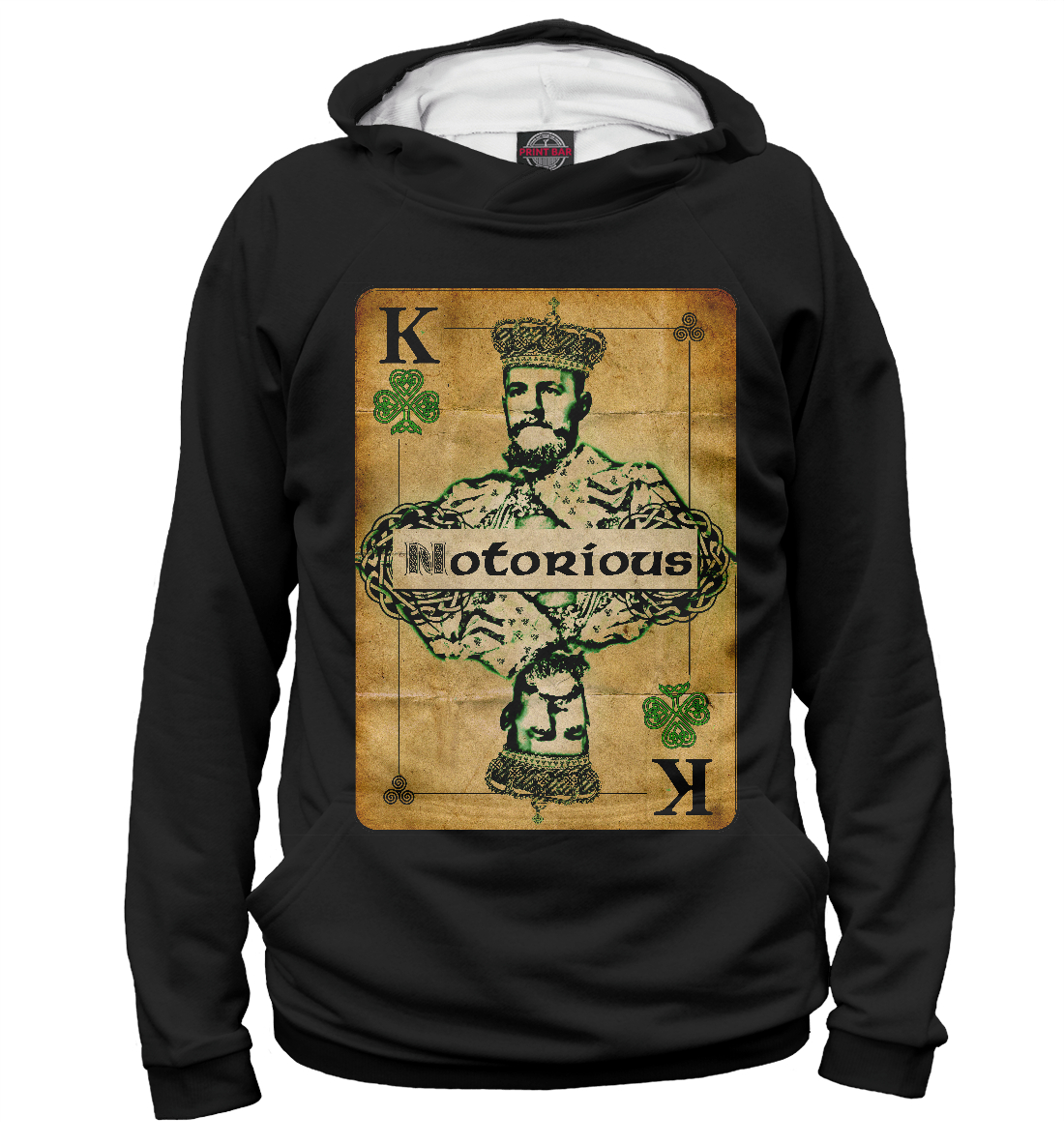 Купить Conor McGregor the King, Printbar, Худи, MCG-295449-hud-2