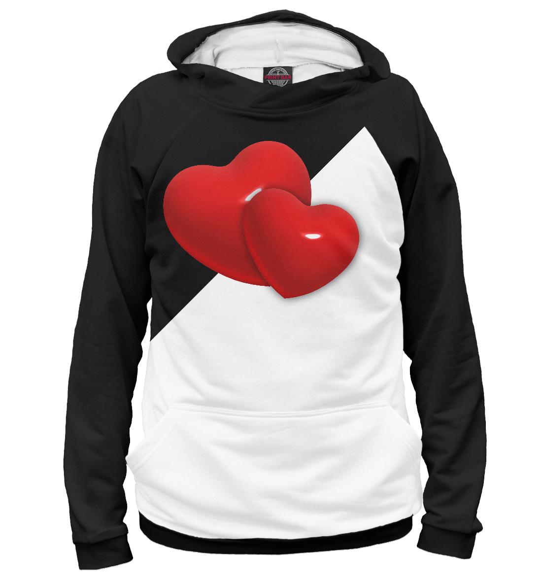 Купить Два сердца, Printbar, Худи, SRD-270766-hud-1