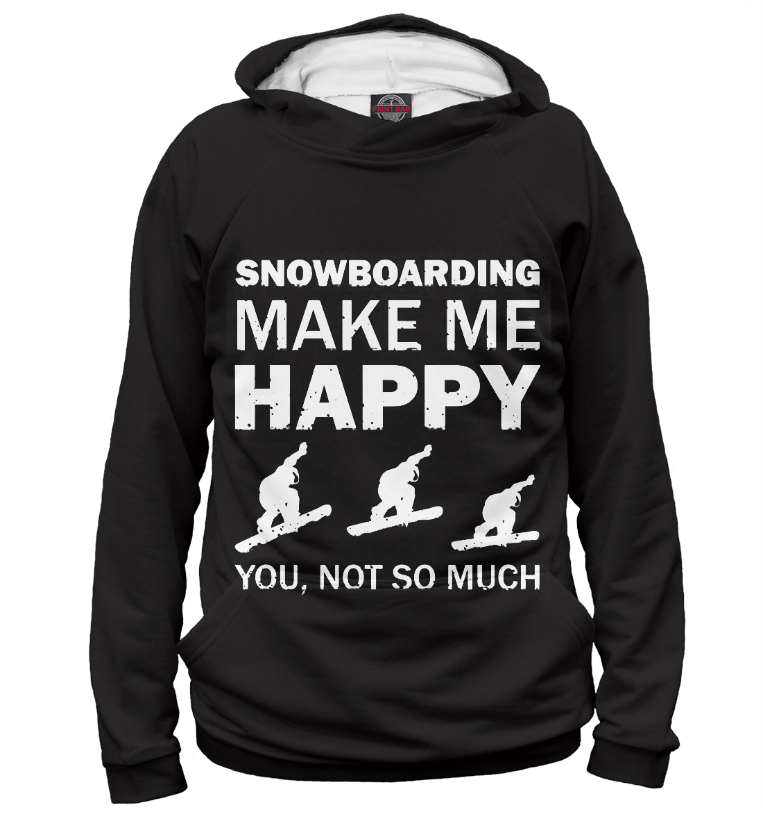 Купить Snowboard make me happy, Printbar, Худи, SNW-928577-hud-2