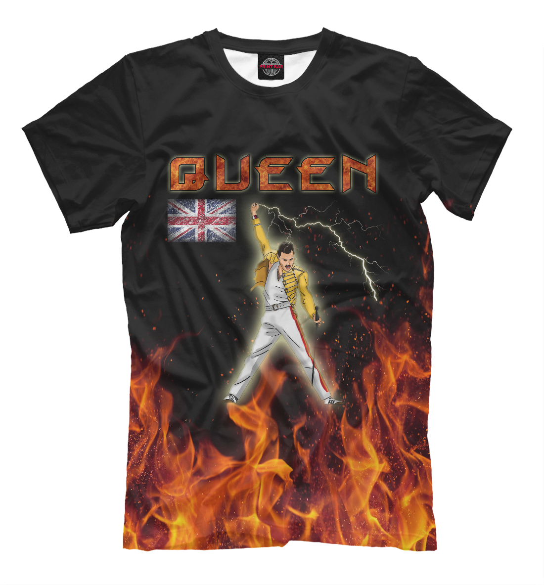Купить Queen & Freddie Mercury, Printbar, Футболки, QUE-485098-fut-2