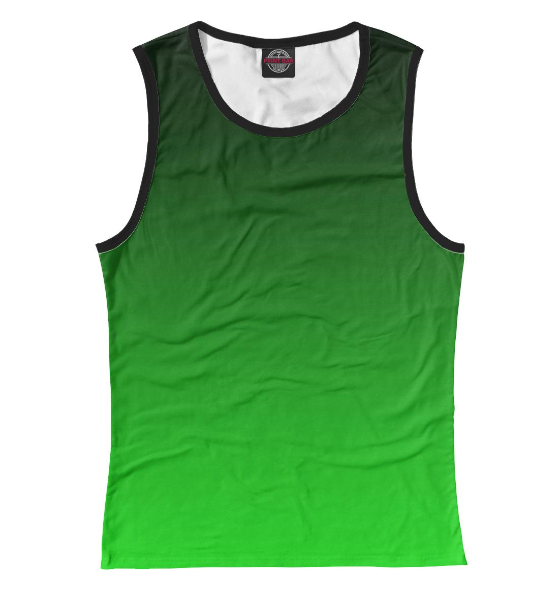 Купить Градиент Зеленый в Черный, Printbar, Майки, CLR-327769-may-1
