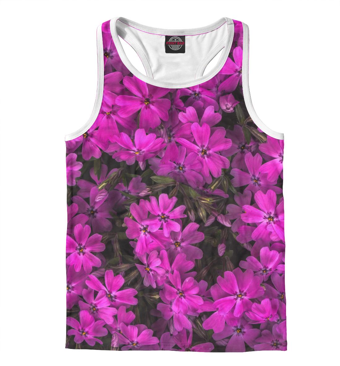 Купить Розовые цветочки, Printbar, Майки борцовки, CVE-122144-mayb-2