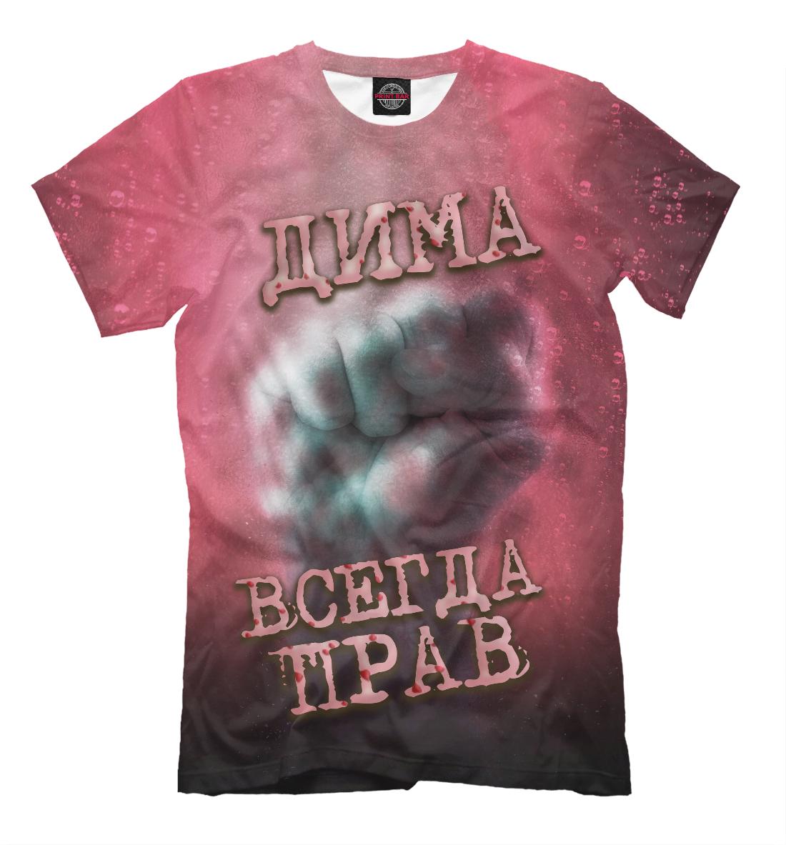 Купить Дима всегда прав, Printbar, Футболки, DMI-653245-fut-2