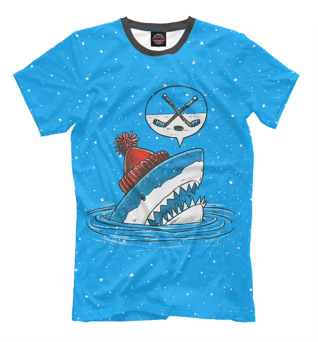 Акула хоккейный фанат