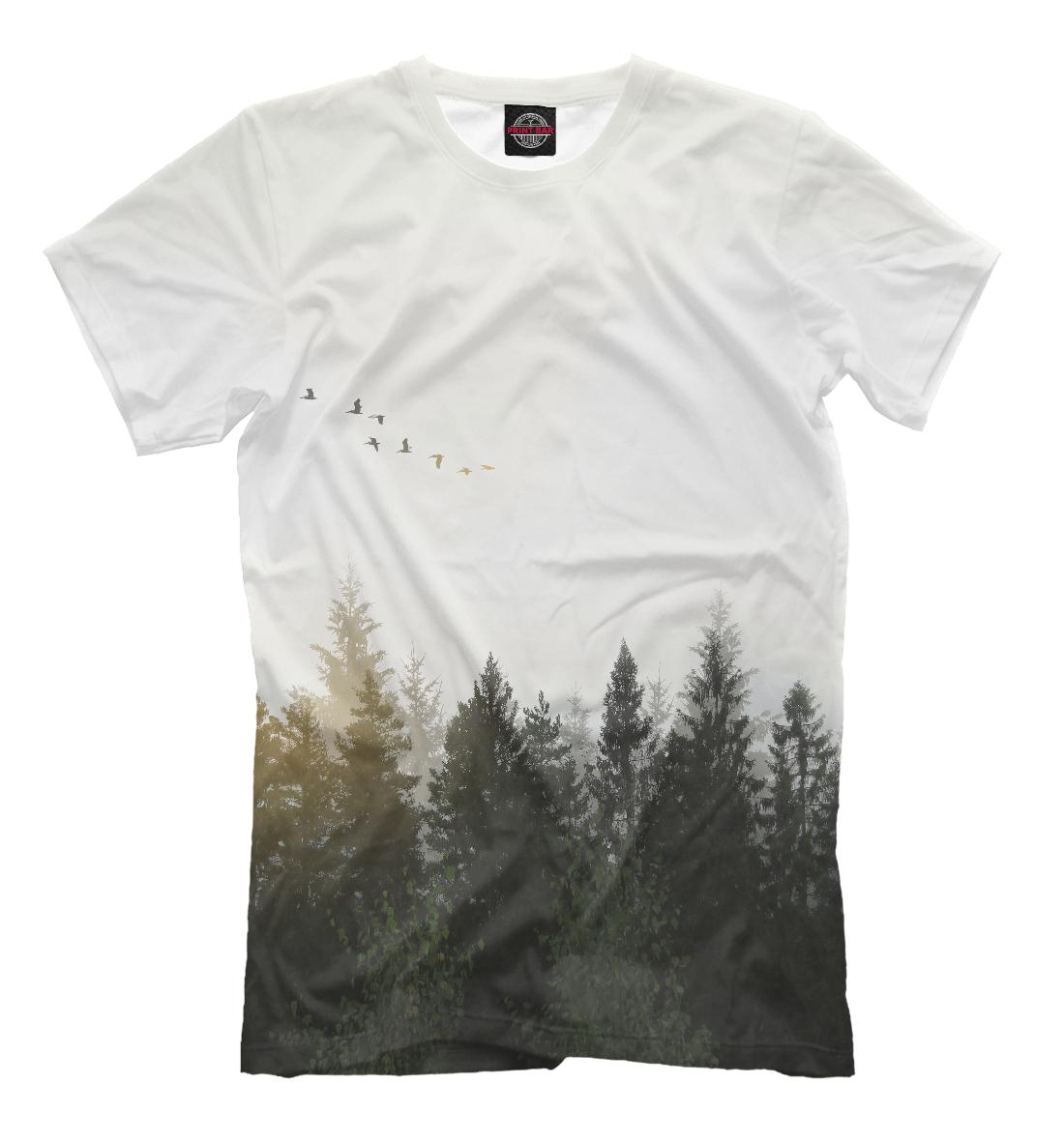 Купить Лесной пейзаж, Printbar, Футболки, PEY-328282-fut-2