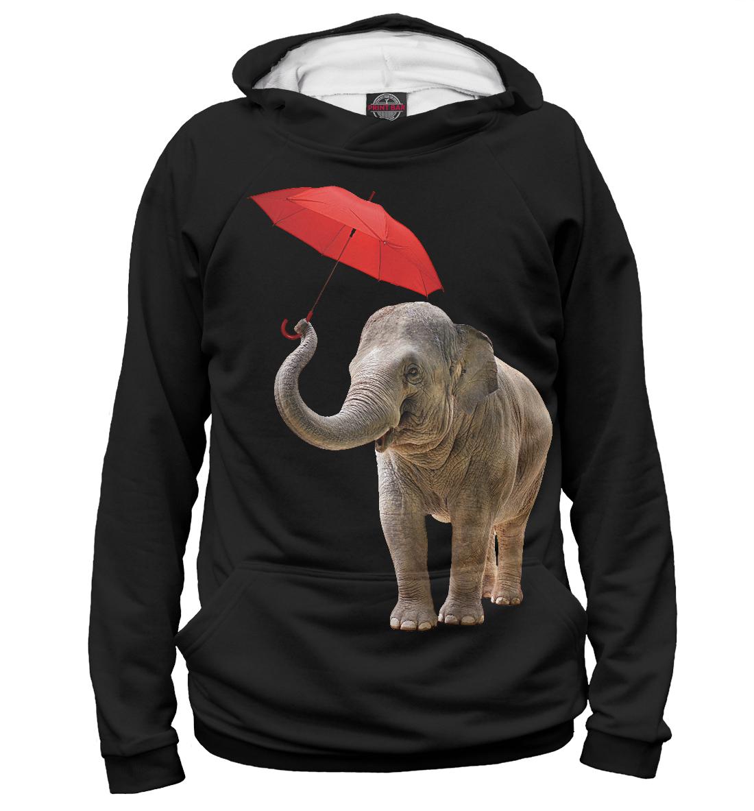 Купить Слон с зонтом, Printbar, Худи, SLO-680329-hud-2