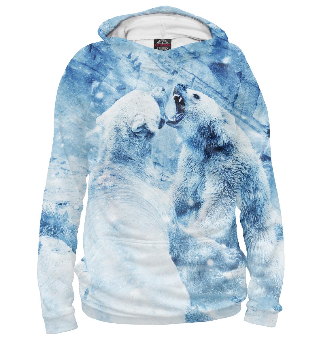Купить Белые медведи, Printbar, Худи, MED-326182-hud-1