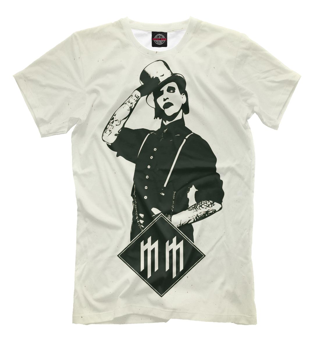 Купить Marilyn Manson, Printbar, Футболки, MRM-132415-fut-2