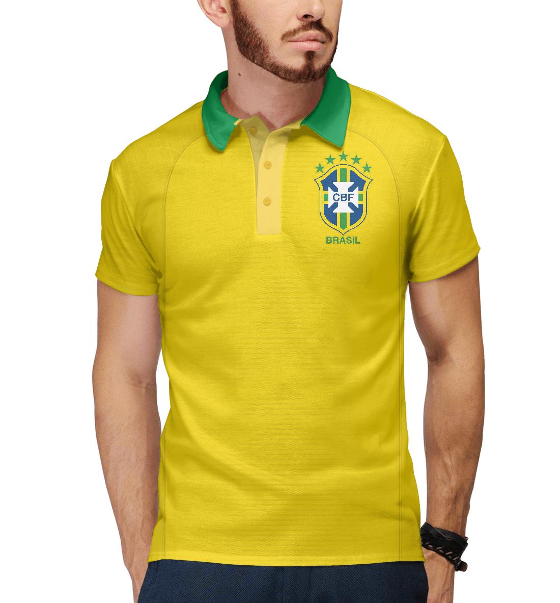 Купить Форма Сборной Бразилии 2018, Printbar, Поло, FNS-723130-pol-2