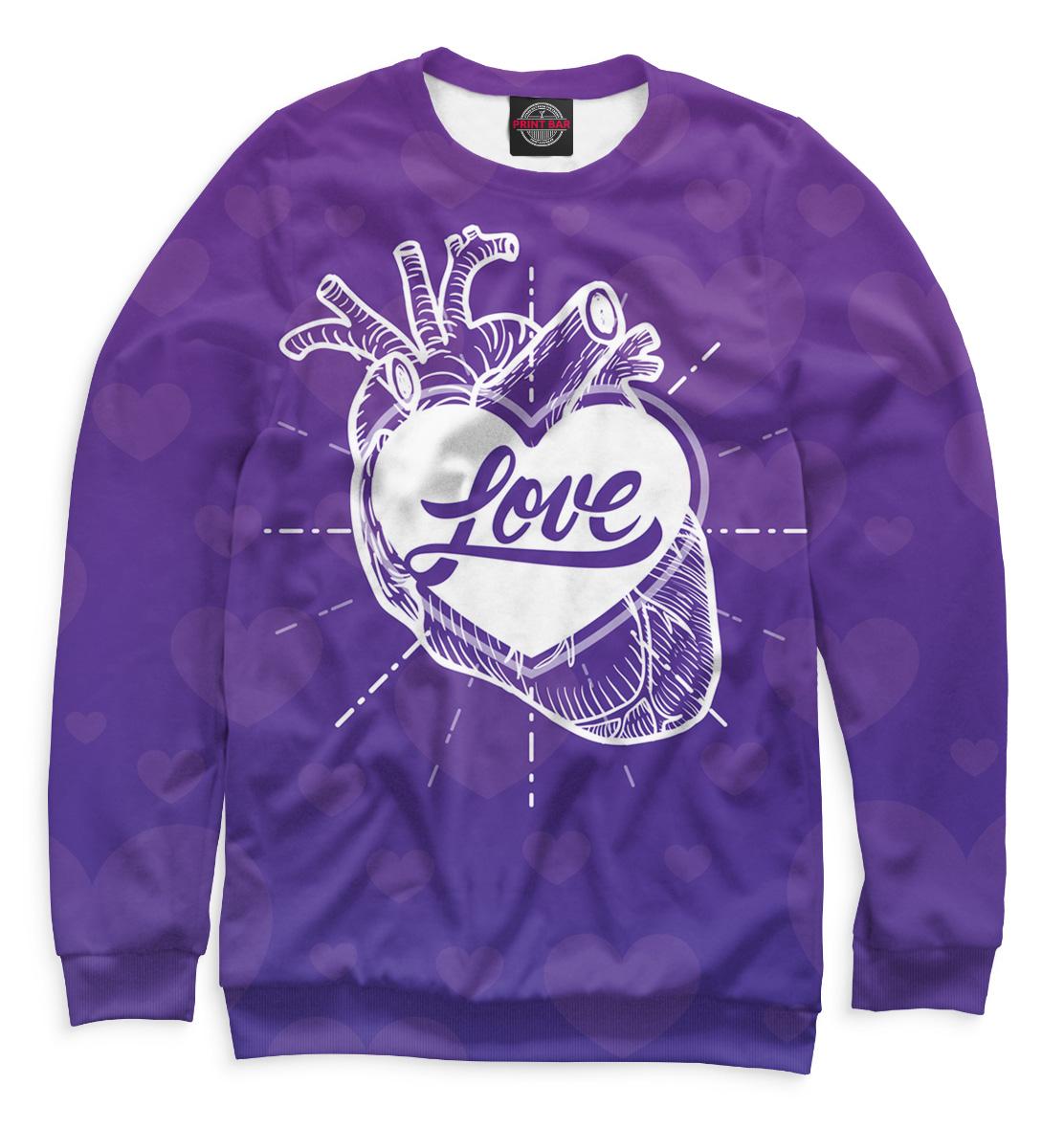 Купить Любовь в сердце, Printbar, Свитшоты, 14F-304672-swi-2