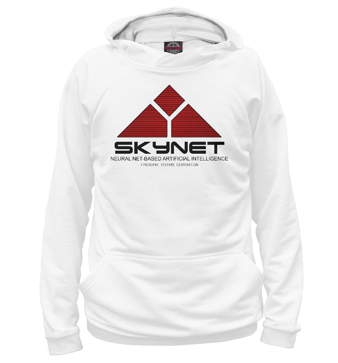 Купить Skynet logo white, Printbar, Худи, TER-551832-hud-2