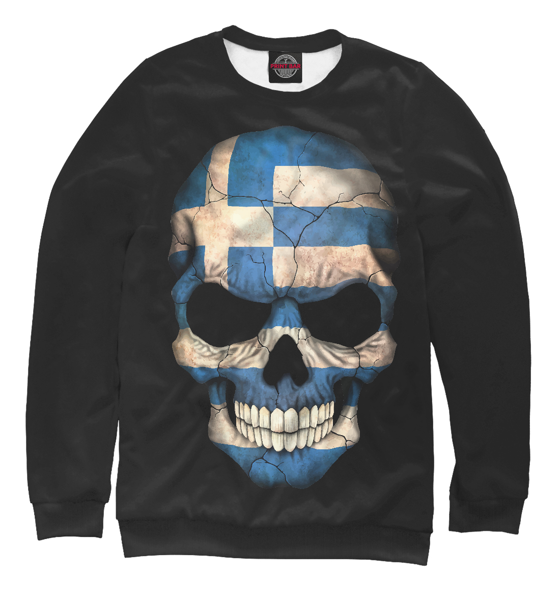 Купить Череп - Греция, Printbar, Свитшоты, CTS-687350-swi-2