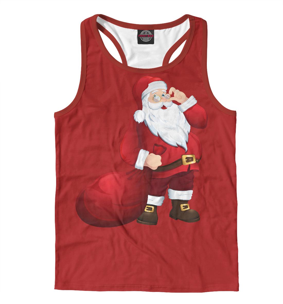 Купить Дед Мороз, Printbar, Майки борцовки, NOV-285651-mayb-2
